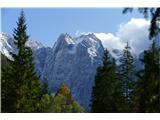 Belopeška jezera - Rifugio Zacchi veličastna Vevnica