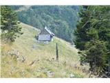 Slovenske planine v vseh letnih časihŽe vidimo ljubko malo brunarico.