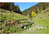 Slovenske planine v vseh letnih časihPod cesto je nekakšen pašnik.