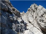 Mrzla goraa tudi zavarovana pot na JV greben Mrzle gore se kar vleče in ni ravno simpl