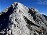 Mrzla gorasestopimo po klasični označeni poti po zahodnem grebenu