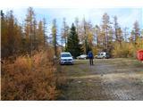Slovenske planine v vseh letnih časihZgornje parkirišče.