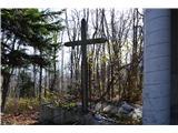 Znamenja (križi in kapelice) na planinskih potehKriž ob kapeli-daje vtis zapuščenosti.