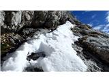 SkutaObčasen sneg na prečni poti ni resnejša ovira.