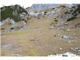 Slovenske planine v vseh letnih časihTo je planina Jezerce.