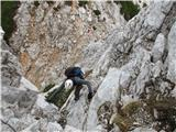 Krnička gora iz Matkove KrniceVzpon z sedla proti grebenu