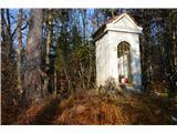 Znamenja (križi in kapelice) na planinskih potehKapelica v gozdu levo od Ilovce .
