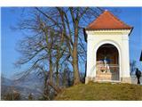 Znamenja (križi in kapelice) na planinskih potehKapelica pred vasjo Dedni vrh.