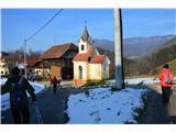 Znamenja (križi in kapelice) na planinskih potehKapelica v Bezenškovem Bukovju.