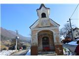 Znamenja (križi in kapelice) na planinskih potehIma celo zvon želja.