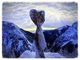Prelaz Ljubelj (koča)pogled proti Snežniku