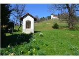 Znamenja (križi in kapelice) na planinskih potehKapelica pri sestopu z hribčka kjer domuje Sv. Jedrt.