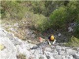 Lisca-zelo zahtevna planinska potLažji vmesni stolpi