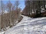 Mali in Veliki Snežnikše veliko je snega do obračališča