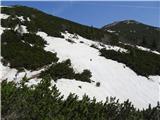 Mali in Veliki Snežnikprečenje snežišča