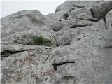 Srednji VelebitManjkajoči klin pred vzponom na vrh Kize