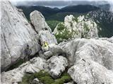 Srednji VelebitPot na vrh gre zadaj in ni preveč težavna.