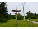 Hleviška planinaTu je tekaški smučarski center Vojsko.