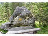 Znamenja (križi in kapelice) na planinskih potehŠe eno posvetilo na skali.
