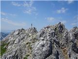 Zelenjak-PalecVrtača, pisana druščina na vrhu, eden maha, druga se vesi po cepinu... :)
