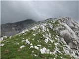 Grintovec čez Dolge steneNa grebenu Dolgih sten
