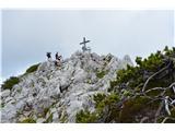Znamenja (križi in kapelice) na planinskih potehNa tej turi še mogočni križ na Svačici.