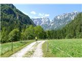 Robanov kot - Robanova planinaže takoj na začetku se odpre pokrajina in gorska panorama