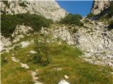 Kukova špicaPogled proti manjši skalni stopnji - nič posebnega