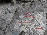 Ceria Merlonena škrbini imamo izbiro: ali levo navzdol v Škrbino Prednje Špranje ali naokrog na Viško planino