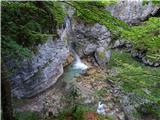 Slovenski slapovi vodotokov Iztek Velikega Možniškega slapu