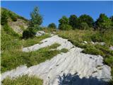 MatajurVzpon po zanimivih skalnih ploščah