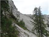 StolPogled na sestop s slovenske strani (sestopiti je potrebno cca 400 višincev)