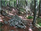 Mali Golakskrivalnice ob poti proti vrhu