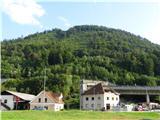 GolčajIz doline je viden vrh zvonika sv Neže