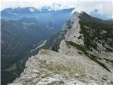 Veliki vrh, DleskovecSestop proti Križevniku.