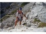 Vrbanove špicetukaj se prične plezalni del, meni še nepoznan.
