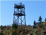 Menina planinana bližnjem vrhu Vivodniku je razgledni stolp