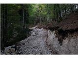 Na Triglav od domaSpodnji del poti je razrit v dolžini nekaj kilometrov