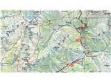 Prečenje Trentski Pelc - Srebrnjakzemljevid dveh izhodišč v dolini Trente