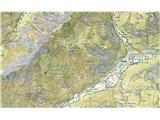 Prečenje Trentski Pelc - Srebrnjakzemljevid Jalovec - Mangart v M 1 : 25.000