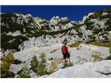 Prečenje Trentski Pelc - Srebrnjaksmer najinega vzpona nad značilnim meliščem