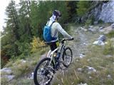 Prečenje Trentski Pelc - Srebrnjak... uff, takole bi pa šlo lepo v dolino, no še ena ideja - tudi za kolesarsko turo ?!