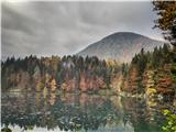 Belopeška jezera - Rifugio Zacchi Ob 10h je bilo pri jezerih še oblačno