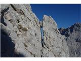 Vrbanove špiceozka lina v skali, delo narave.