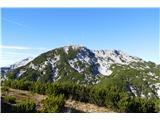 Dleskovec 1965 mpogled na Veliki vrh in Veliko Zelenico s poti na Dleskovec