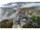 Stene Sočerge -Kraški rob,spodmoli,naravni most, Lačna, Hrastovlje  Pot je označena.
