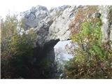 Stene Sočerge -Kraški rob,spodmoli,naravni most, Lačna, Hrastovlje  Naravni most.