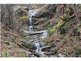 Slovenski slapovi vodotokov Na poti v dolino od koče na Klemenči jami pod Ojstrico k Plesniku pa je polno manjših slapov.