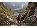 Alta via CAI Gemona (greben Lanež - Veliki Karman)Primernejše ime sedla bi bilo ... Strmina :)