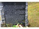 Gorska obeležja NOBBorbe so bile pred koncem II. sv. vojne -med drugim so padli partizani iz Španije, Litve...